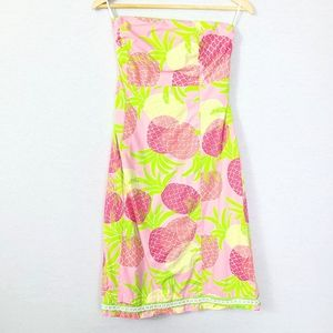 Lilly Pulitzer Sabrina Strapless Tropical Dress